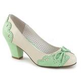 Vert 6,5 cm retro vintage WIGGLE-17 Pinup escarpins femmes à talons épais