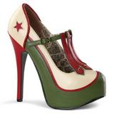 Vert Beige 14,5 cm TEEZE-43 Chaussures pour femmes a talon