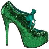 Vert Etincelle 14,5 cm Burlesque TEEZE-10G Platform Escarpins Chaussures