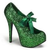 Vert Etincelle 14,5 cm TEEZE-10G Platform Escarpins Chaussures