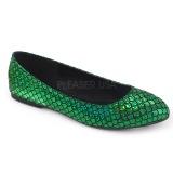 Vert MERMAID-21 ballerines chaussures plates femmes