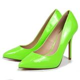 Vert Neon 13 cm AMUSE-20 escarpins à talon aiguille bout pointu