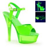 Vert Neon 15 cm Pleaser KISS-209UVT Plateforme Haut Talon