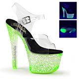 Vert Neon 18 cm Pleaser CRYSTALIZE-308PS Plateforme Haut Talon