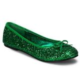 Vert STAR-16G etincelle chaussures ballerines femmes plates