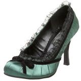 Vert Satin 9 cm DAINTY-420 Chaussures Escarpins Classiques