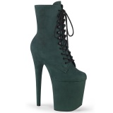 Vert faux suede 20 cm FLAMINGO-1020FS2 bottines de pole dance