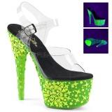 Vert neon 18 cm Pleaser ADORE-708NSK chaussure à talons de pole dance