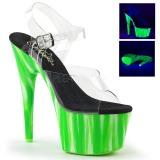 Vert neon 18 cm Pleaser ADORE-708UVP chaussure à talons de pole dance