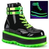 Vert neon 5 cm SLACKER-52 bottines cyberpunk plateforme