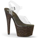 Vert paillettes 18 cm Pleaser ADORE-708HMG chaussure à talons de pole dance