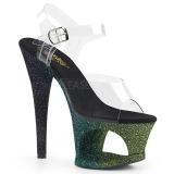 Vert paillettes 18 cm Pleaser MOON-708OMBRE chaussure à talons de pole dance
