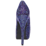 Violet Strass 14,5 cm Burlesque TEEZE-06R Talons Aiguilles Escarpins