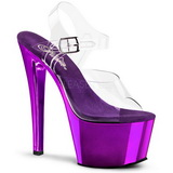 Violet Transparent 18 cm SKY-308 Plateforme Haut Talon