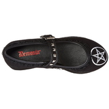 pentacle toile 8 cm CLICK-02-2 plateforme chaussures lolita